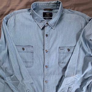 1901 (Nordstrom) Casual Denim Shirt (XXL)